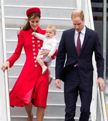Royals arrive in New Zealand