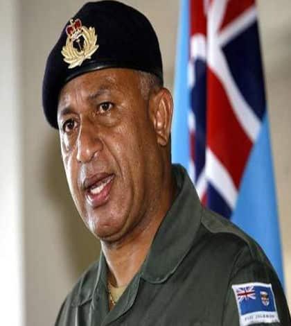 Frank Bainimarama visits New Zealand