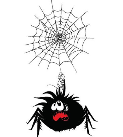 Sing incy wincy spiders away!