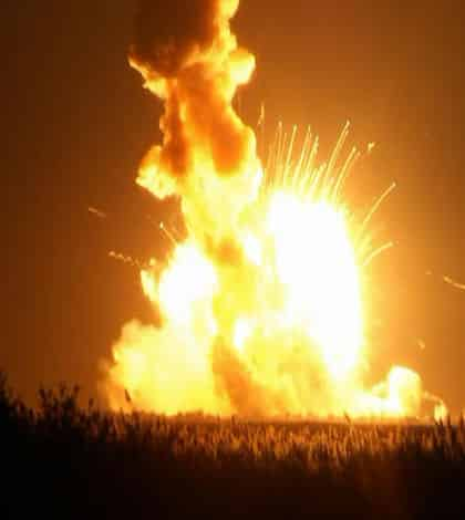 Rocket explodes after take off