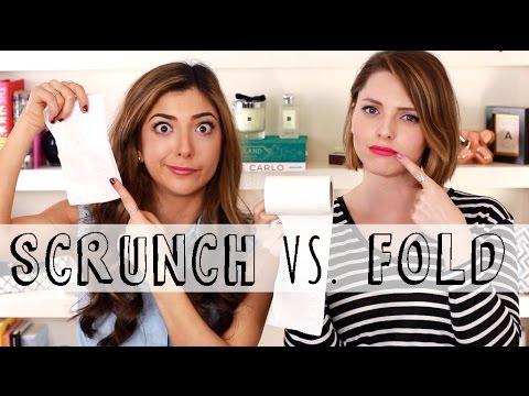 Weekly Dilemma? Toilet Paper: Fold or Srunch