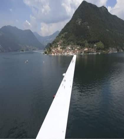 Floating bridge lets you walk on water