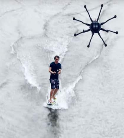 Drone surfing the new crazy this summer