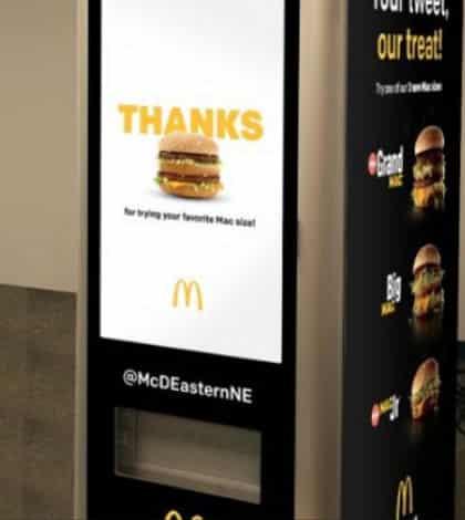 McDonald's unveil Big Mac ATM