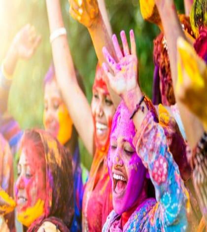 Holi celebrated in Asia