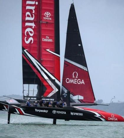 Team New Zealand involved in crash