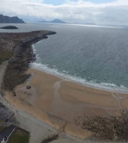 Irish beach reappears overnight