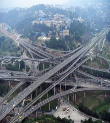 New road in China causing problems