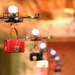 Drones used in fashion show