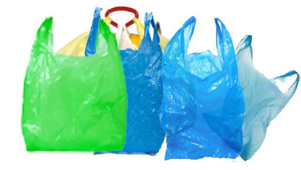 Plastic bags everywhere!